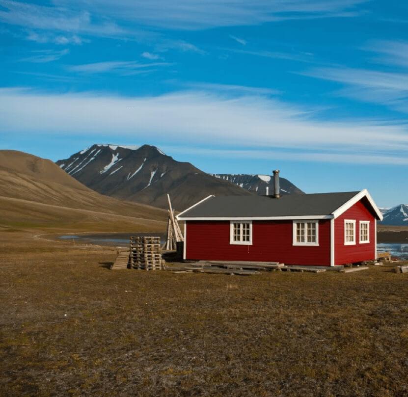 Drywood hytte Svalbard